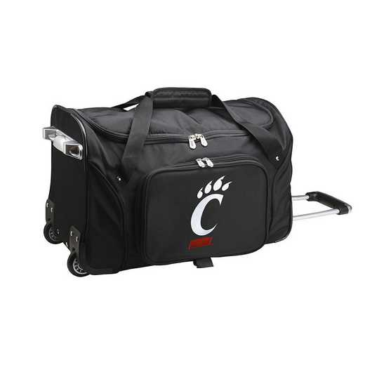 CLCIL401: NCAA Cincinnati Bearcats 22IN WHLD Duffel Nylon Bag